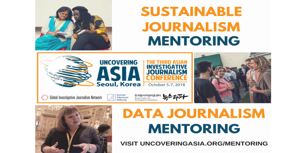 One-on-One Mentoring at IJAsia18: Data Journalism and Sustainable Journalism