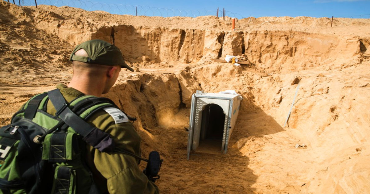 Israel says it uncovers deep militant tunnel dug from Gaza