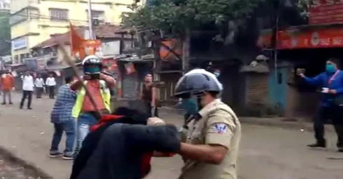 Furore After Sikh Man With Gun Shoved, Turban Pulled At BJP Bengal March