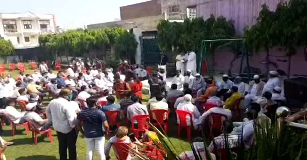 Demands For 'Justice For Accused' At Gathering Near Hathras Victim's Home