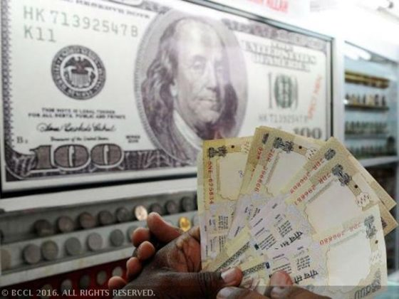 Rupee edges up 3 paise against dollar