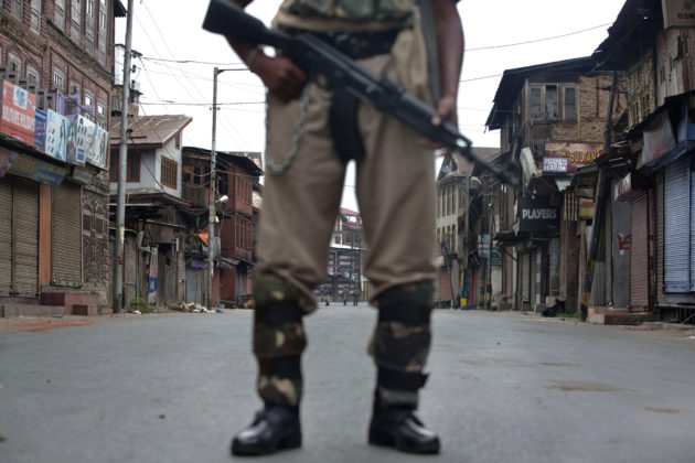 Press raided and papers seized in Kashmir by Police officers