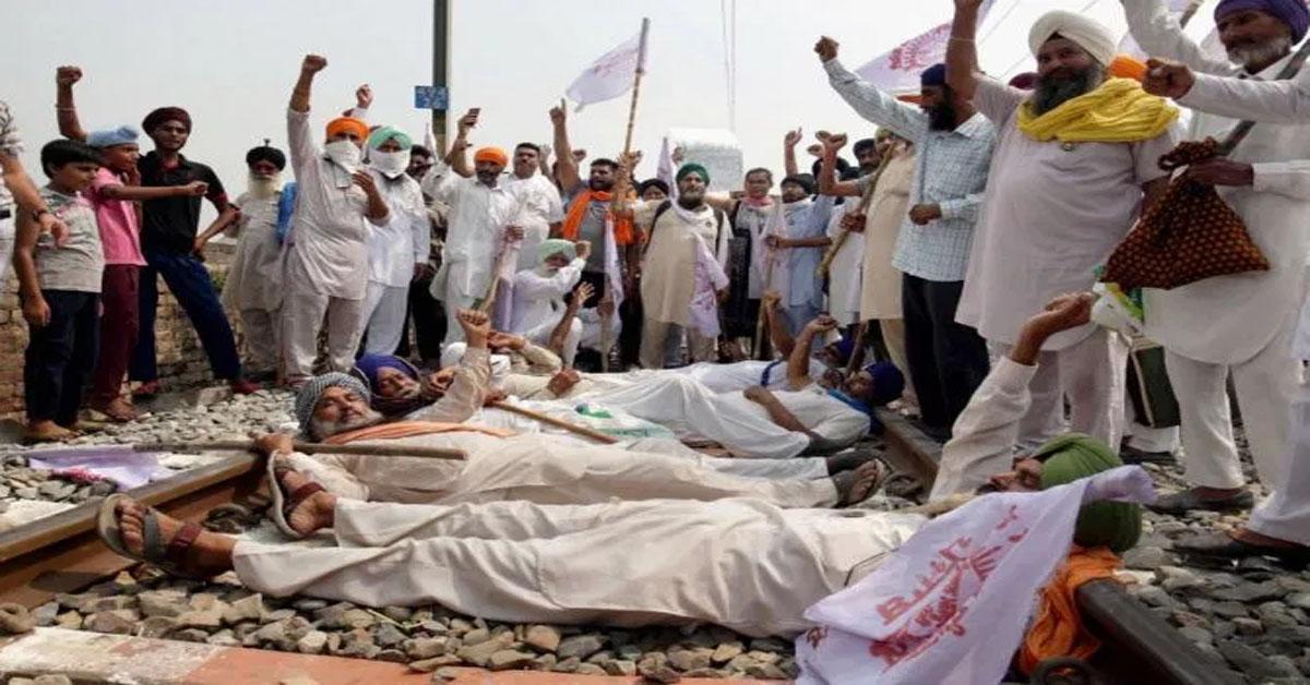 Massive Farmer Protests In Punjab, Haryana, Roads, Rail Tracks Blocked