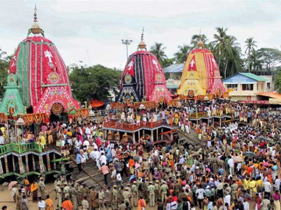 Lord Jagannath's rath yatra commences in Ahmedabad