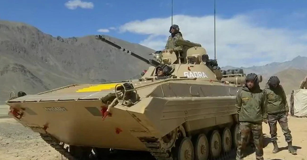 Amid Standoff With China, Video Shows Army Tanks Near LAC