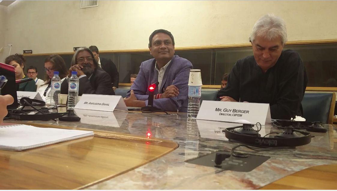 Aniruddha Bahal, Editor Cobrapost, talks about The perils of investigative journalism at UNESCO Headquarters in Paris.